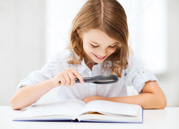 девушки чтение книга школы образование Сток-фото © dolgachov
