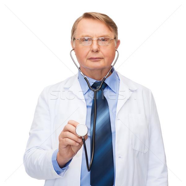 Lächelnd Arzt Professor Stethoskop Gesundheitswesen Medizin Stock foto © dolgachov