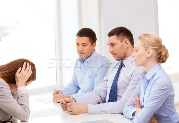 女性実業家 オフィス ビジネス キャリア 会議 作業 ストックフォト © dolgachov