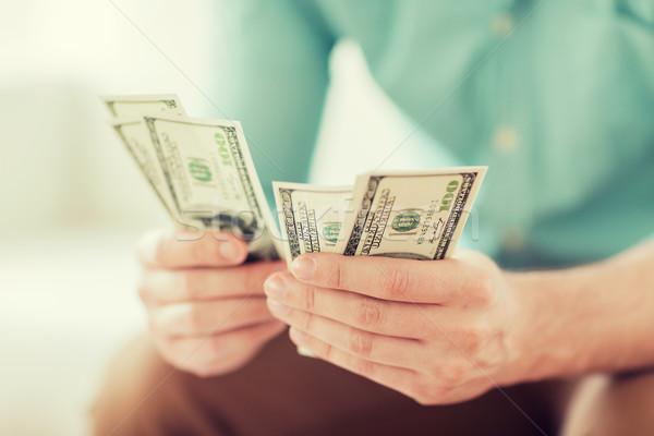 ストックフォト: 男 · お金 · ホーム · 貯蓄
