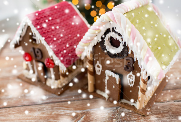 Mooie peperkoek huizen home vakantie Stockfoto © dolgachov