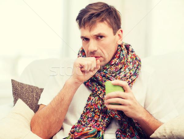человека грипп домой здравоохранения медицина Сток-фото © dolgachov