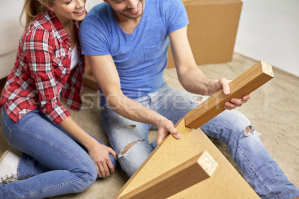 Couple meubles déplacement réparation Photo stock © dolgachov