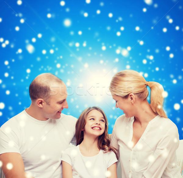 Stok fotoğraf: Mutlu · aile · ev · aile · çocukluk · tatil · insanlar