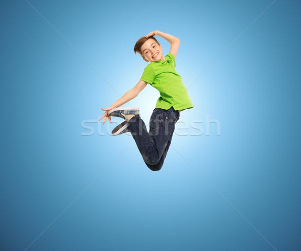 Сток-фото: улыбаясь · мальчика · прыжки · воздуха · счастье · детство