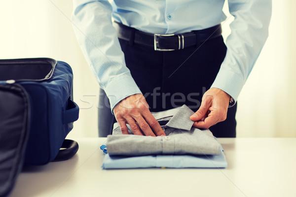 Foto stock: Empresário · roupa · viajar · saco · viagem · de · negócios