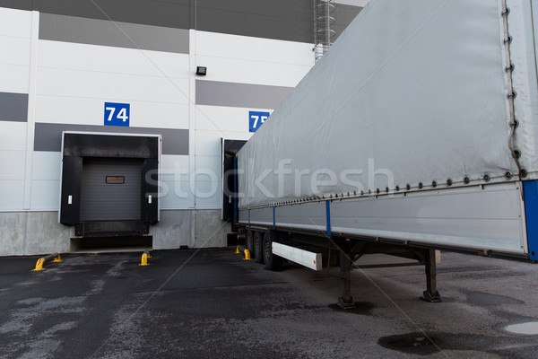 warehouse gates and truck loading Stock photo © dolgachov