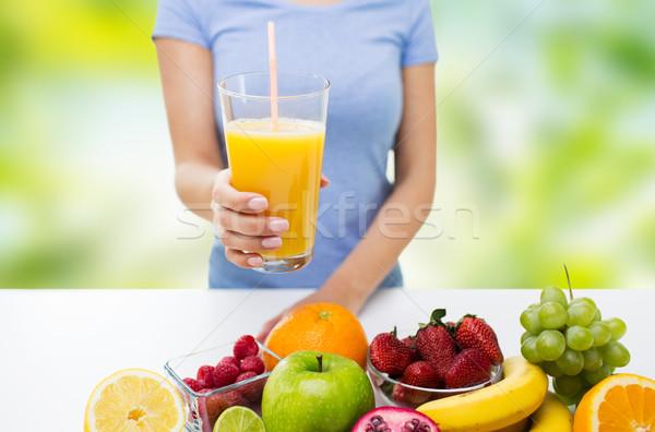 женщину апельсиновый сок плодов Сток-фото © dolgachov