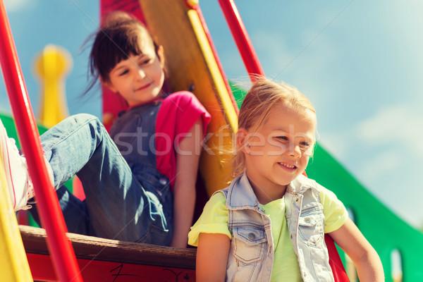 Heureux enfants enfants aire de jeux été enfance Photo stock © dolgachov