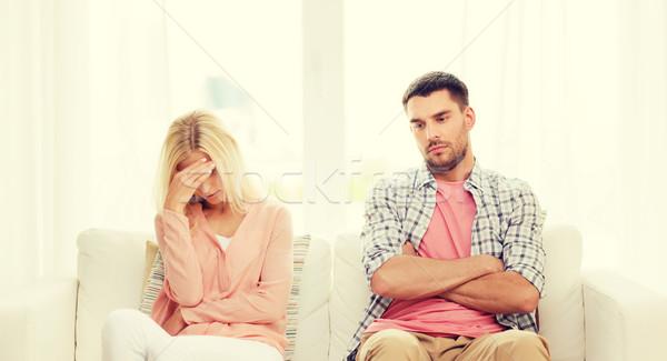 unhappy couple having argument at home Stock photo © dolgachov