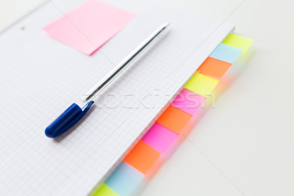close up of organizer and pen on office table Stock photo © dolgachov