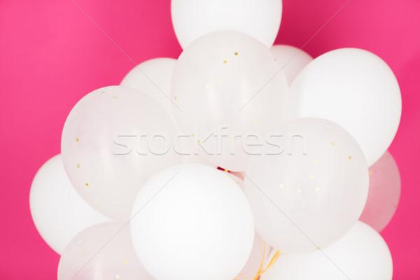 白 ヘリウム 風船 ピンク 休日 ストックフォト © dolgachov