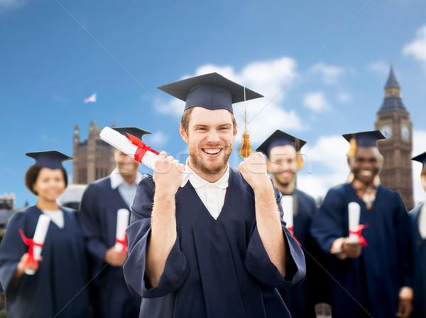 Stock fotó: Boldog · diák · diploma · ünnepel · érettségi · oktatás