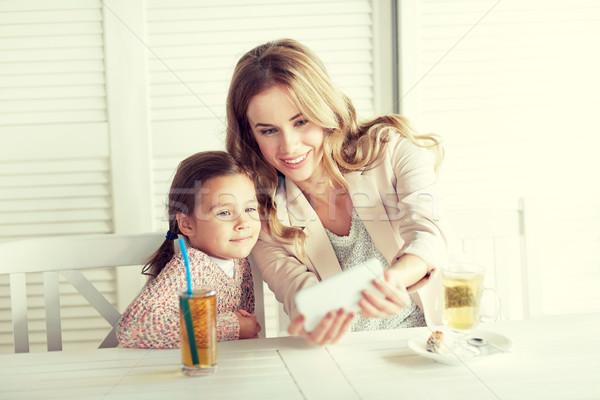 Stock fotó: Boldog · család · elvesz · étterem · család · nevelés · technológia