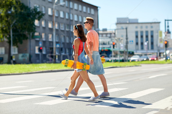 十代の カップル 市 夏 関係 ストックフォト © dolgachov