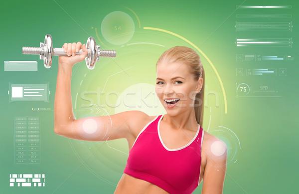 Zdjęcia stock: Szczęśliwy · kobieta · biceps · sportu