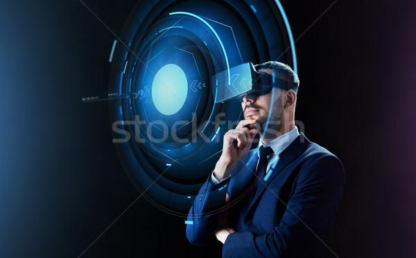 Zdjęcia stock: Biznesmen · faktyczny · rzeczywistość · zestawu · ludzi · biznesu · nowoczesne