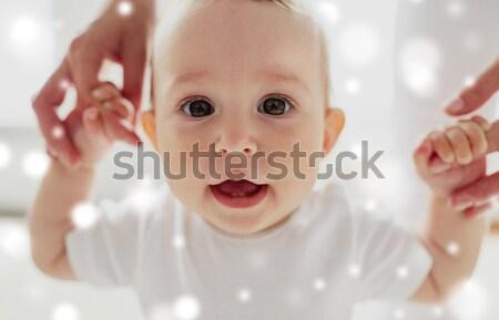 happy little baby boy or girl at home Stock photo © dolgachov
