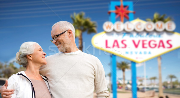 senior couple travelling to las vegas Stock photo © dolgachov