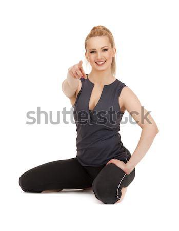 フィットネス インストラクター 明るい 画像 白 女性 ストックフォト © dolgachov