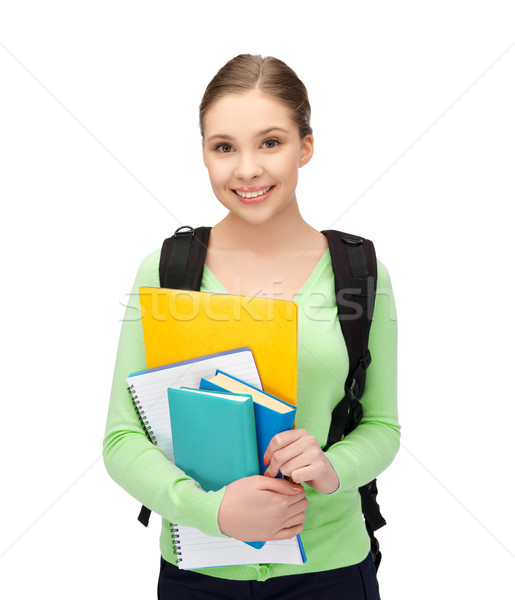 student with books and schoolbag Stock photo © dolgachov