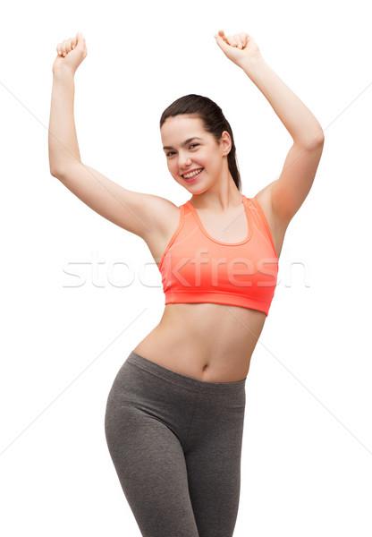 Lächelnd Sportbekleidung Tanz Fitness Ernährung Stock foto © dolgachov