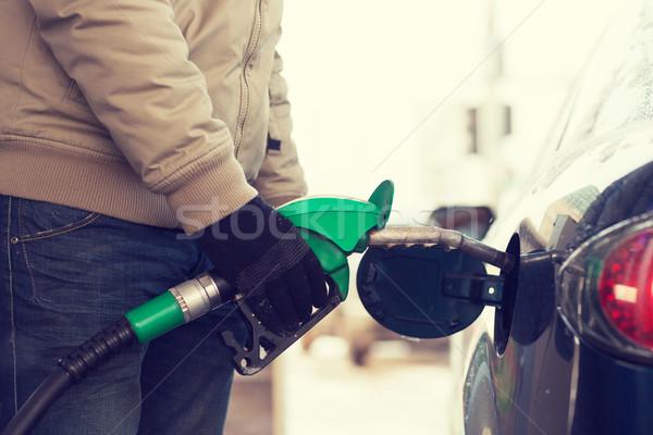 Erkek araba yakıt tank araç Stok fotoğraf © dolgachov