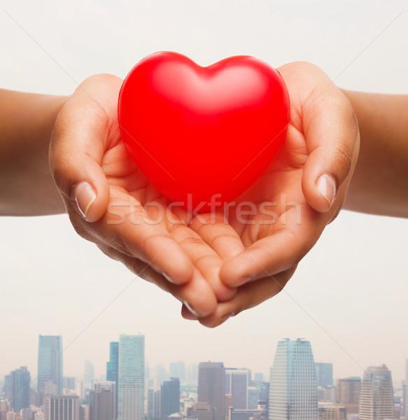 Feminino mãos pequeno vermelho Foto stock © dolgachov