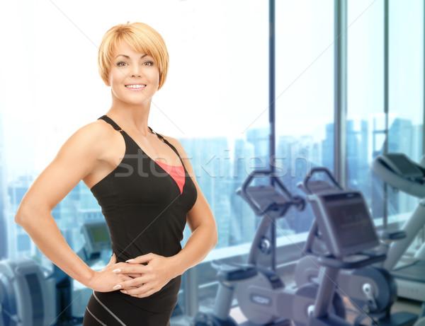 幸せ 女性 フィットネス インストラクター ジム 人 ストックフォト © dolgachov