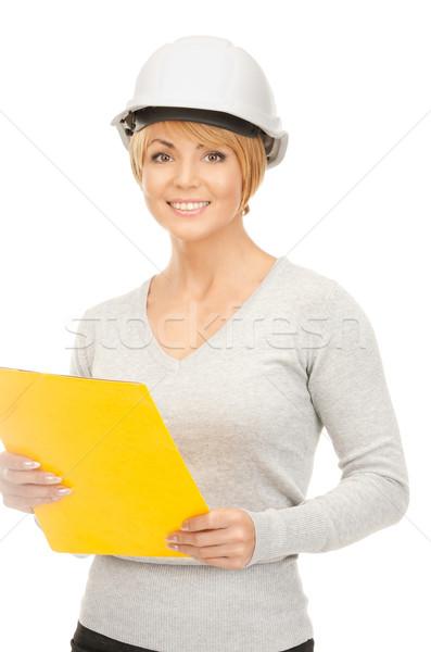 contractor in helmet Stock photo © dolgachov