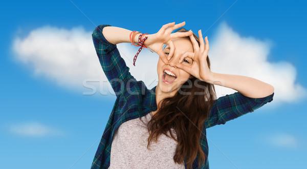 Feliz cara personas Foto stock © dolgachov