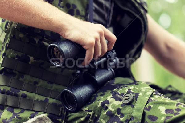 żołnierz hunter polowanie wojny armii Zdjęcia stock © dolgachov