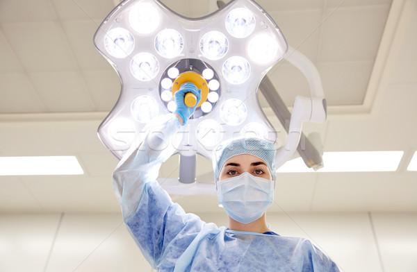 Sebész műtő kórház műtét gyógyszer emberek Stock fotó © dolgachov