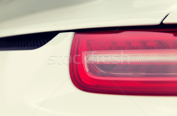 close up of car part with grille and headlight Stock photo © dolgachov