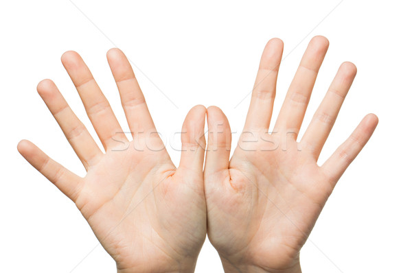 close up of two hands showing palms Stock photo © dolgachov