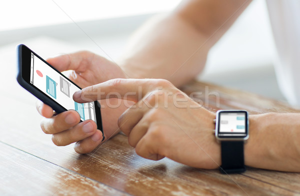 Handen horloge business technologie Stockfoto © dolgachov