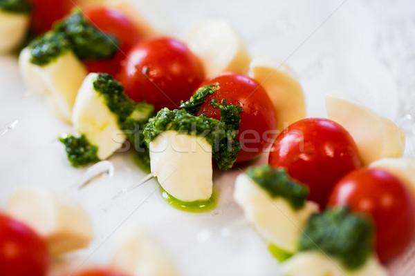 Mozzarella voedsel catering koken Stockfoto © dolgachov