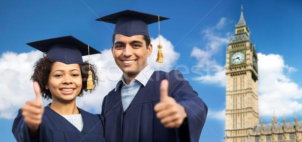 Feliz estudiantes solteros educación Foto stock © dolgachov