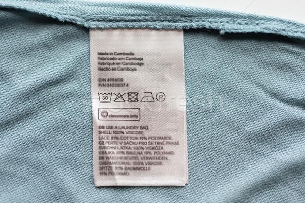 Label Benutzer Handbuch Kleidung Stück Kleidung Stock foto © dolgachov