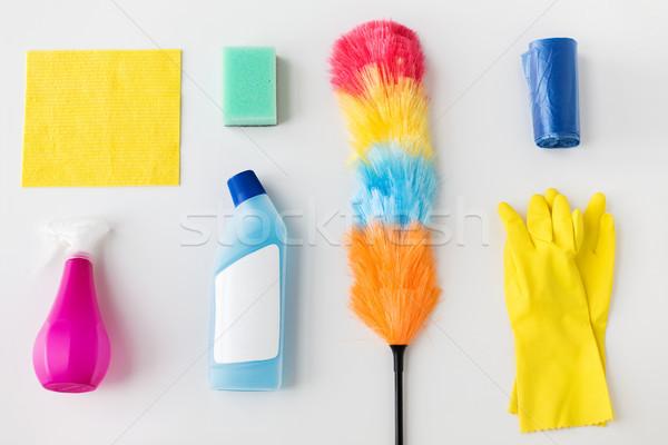 Stock fotó: Takarítás · fehér · házimunka · háztartás · háztartás · otthon