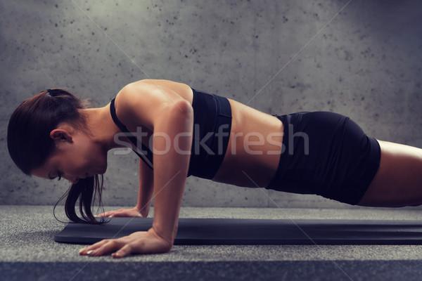 Stok fotoğraf: Kadın · spor · salonu · uygunluk · spor · insanlar