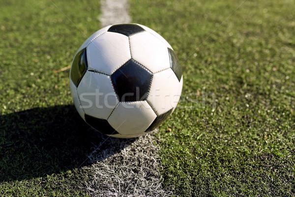 Futebol campo de futebol linha esportes futebol jogo Foto stock © dolgachov