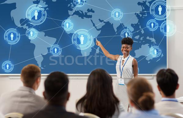 Stock fotó: Csoportkép · üzlet · konferencia · előadás · globális · hálózat