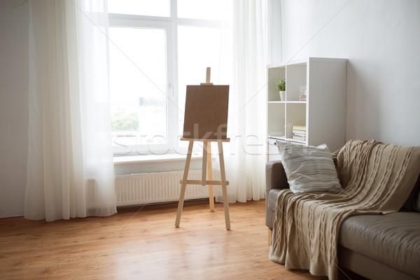 Fából készült festőállvány otthon szoba művészet stúdió Stock fotó © dolgachov