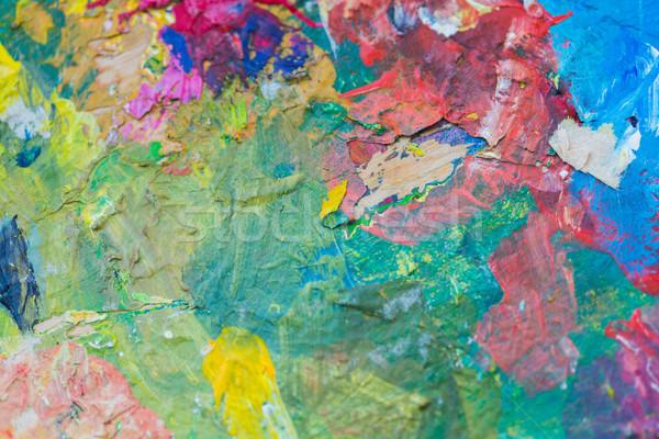 Colorido pintura arte criatividade pintar Foto stock © dolgachov