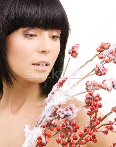 ashberry woman Stock photo © dolgachov