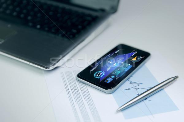 Smartphone GPS applicazione business tecnologia Foto d'archivio © dolgachov