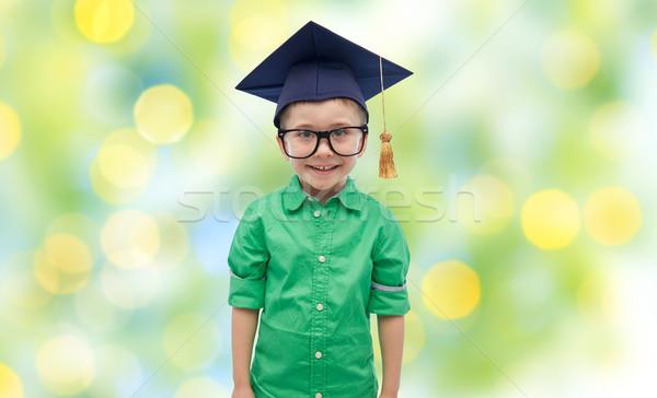 Foto stock: Bacharel · seis · infância · escolas · educação