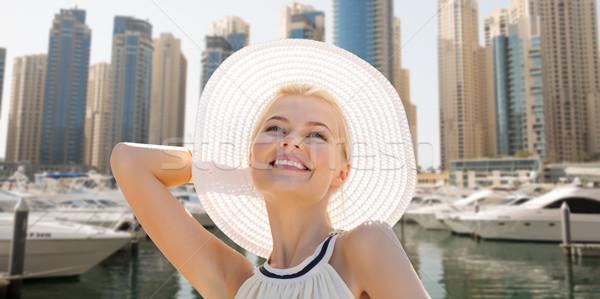 Felice donna estate Dubai città Foto d'archivio © dolgachov
