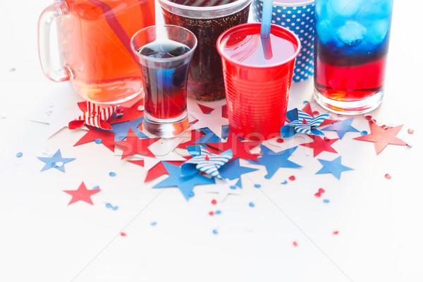Içecekler amerikan gün parti kutlama tatil Stok fotoğraf © dolgachov